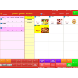 Restaurant management software in multiple languages, English touch ordering system, English wireless ordering software